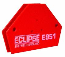 """Eclipse Magnetics E953 Magnetic Quick Clamp, 33 lb. Pull Capacity, 3-15/16"""" Length 2-9/16"""" Width x 13/16"""" Height"""