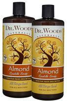 Dr. Woods Pure Almond Liquid Castile Soap with Organic Shea Butter, 32 Ounce (Pack of 2)