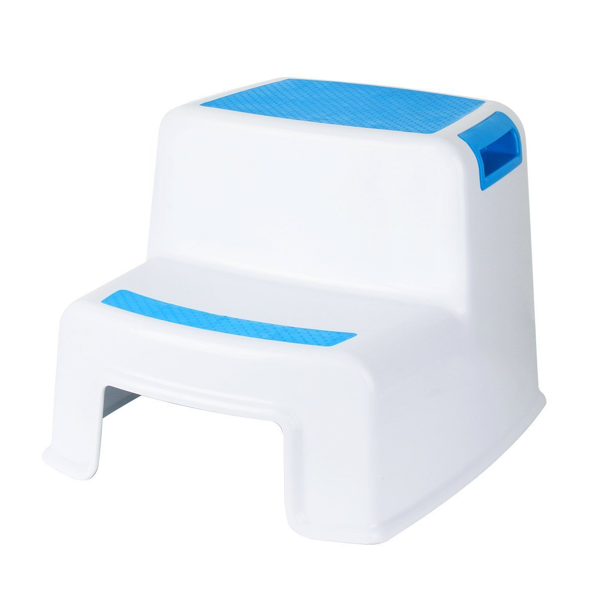 Roychamp Step Stool, Dual Height Two Step Anti-slip Children Step up Stool with Safety Material for Toddlers, Kids and Adults for Potty Training, Bathroom, Toilet and Kitchen (Blue)