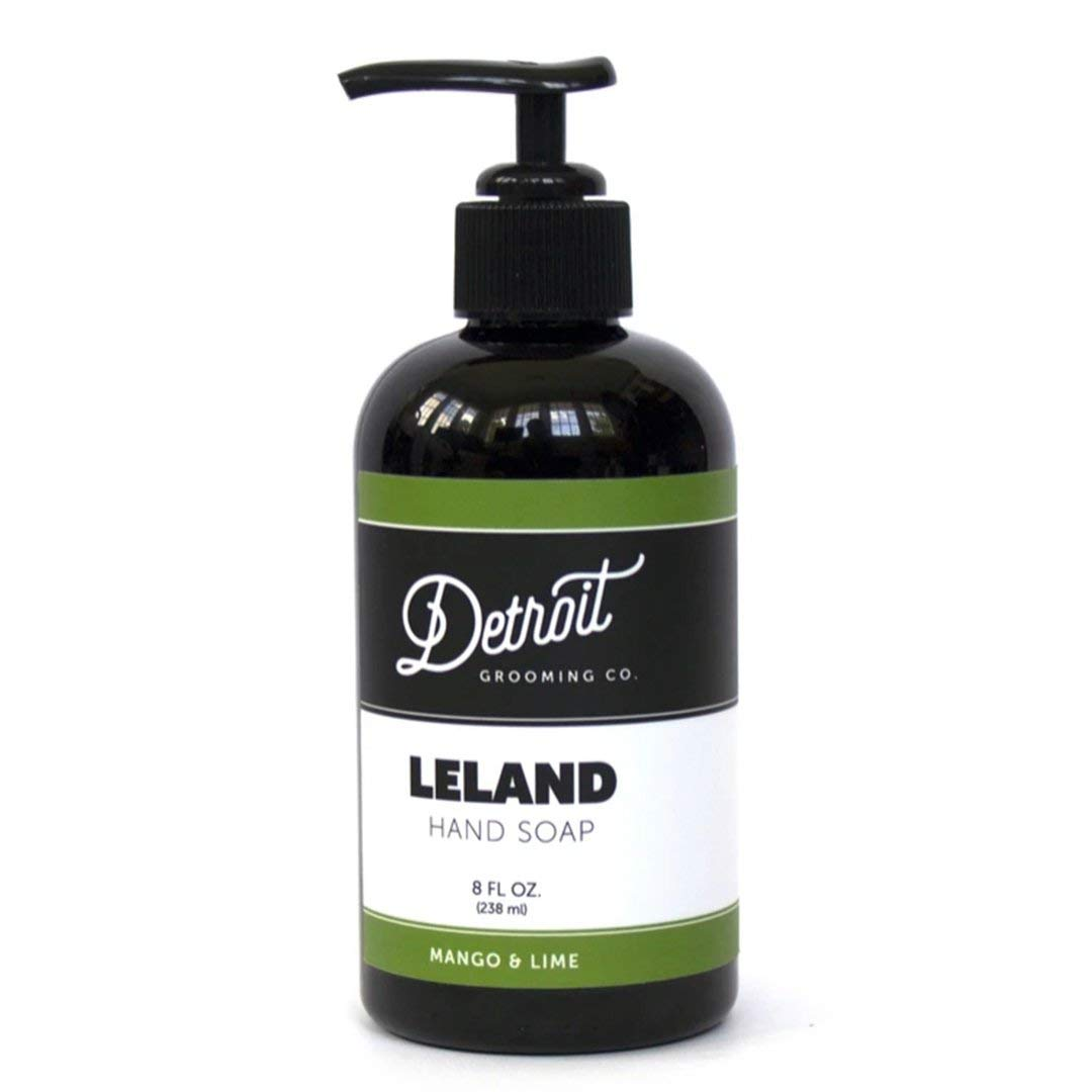 Detroit Grooming Co. Hand Soap - Leland - Mango and Lime - All Natural, Plant-Based, Powerful Cleansing and Moisturizing Hand Wash - Made With Essential Oils, Vitamins, and Aloe Vera (8oz)