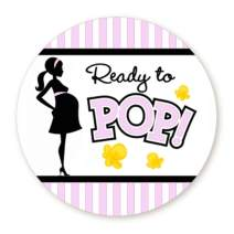 Lavender Ready to Pop Stickers | 36 Stickers | 2 Inches Round | Ready To Pop Baby Shower Stickers for Popcorn