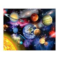 Caopixxzful DIY Paint by Number - Best Gift Choice for Adults & Kids Painting Skill Practice - Harbor Oil Painting (Solar System 009)
