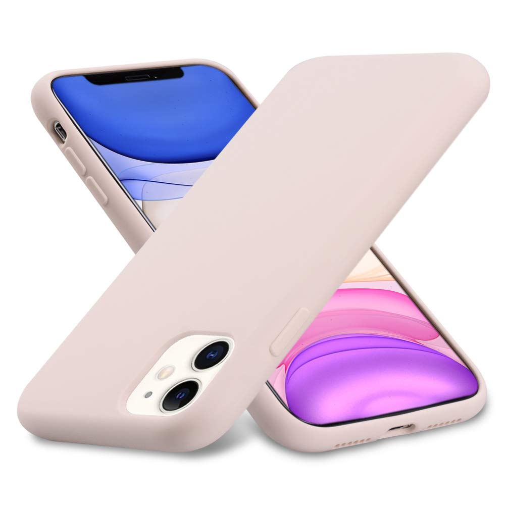 Ermorgen Liquid Silicone Gel Rubber Case Compatible for iPhone 11 6.1 2019, Full Protective Shockproof Ultra Slim (Excellent Touch) -Pink