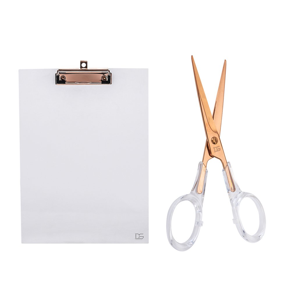 Acrylic Desktop Stationery Bundle by Draymond Story 1) Clipboard 1) Scissors