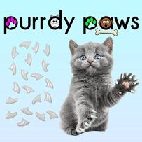 Purrdy Paws Soft Nail Caps for Cat Claws Pearl