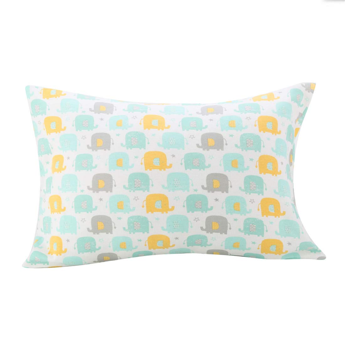 UOMNY Kids Toddler Pillowcases 1 Pack 100% Cotton Pillow Cover Pillowslip Case Fits Pillows sizesd 14 x 19 Inch for Kids Bedding Pillow Cover Baby Pillow Cases Elephants Kids' Pillowcase