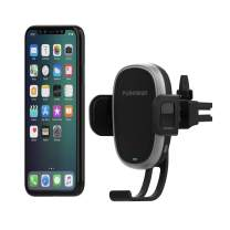 PureGear AutoGrip 10W Wireless Car Charger, Vent Mount for Qi Enabled Phone, Self-Gripping System, with Qualcomm 3.0 Car Charger, 3 ft. USB-C Charging Cable, Black