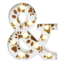 Marquee Letters Paw Print Treat Letter Sign Pet Party Supplies Puppy Dog Cat Toys Gifts Name Sign Nursey Girls Room Pet House Birthday Party Decoration- Paw Letter &