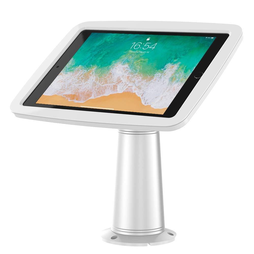 """Beelta Locking iPad Stand Holder, 360 Swivel, Fits iPad 5th/6th, iPad Air 1/2, iPad Pro 9.7"""", Aluminium Stand + Plastic Enclosure, BSC305W"""
