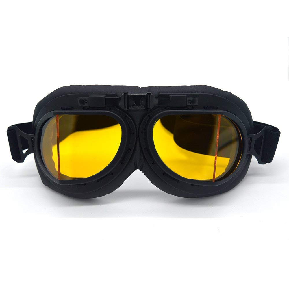 evomosa Motorcycle Goggles Vintage Pilot Style Cruiser Scooter Goggle Outdoor Sand Goggles Bike Racer Cruiser Touring Eyewear