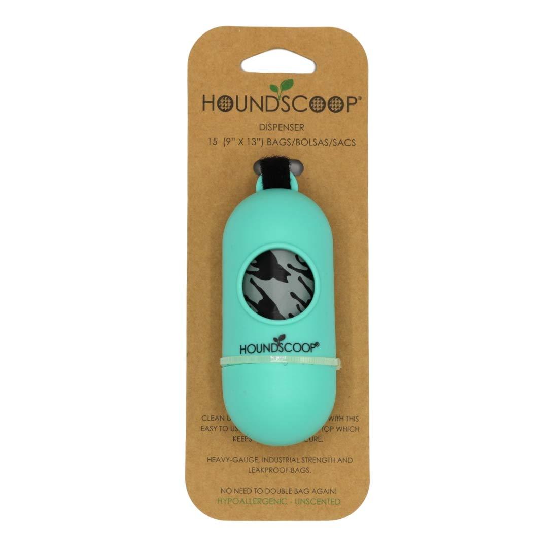 HOUNDSCOOP Leash Dispenser Adjustable Strap 15 Pet Waste Bags Included