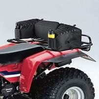 kemimoto ATV Gear Bag Waterproof Rear Cargo Bag with Cushion, Water Bottle Holder and Gun Holder