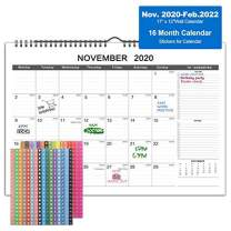 """2021 Desk Calendar - 16 Months Wall Calendar with Julian Date, 17"""" x 12"""",Twin-Wire Binding, Large Ruled Block with to-do List&Notes, Thick Paper Perfect for School, Office, Home Planning & Organizing"""