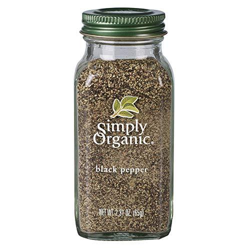 Simply Organic Black Pepper, Medium Grind, Certified Organic | 2.31 oz | Piper nigrum L.