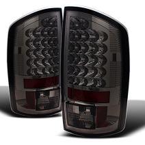 For Dodge Ram 1500 2500 3500 Pickup Truck Rear LED Tail Light Signal Brake Lamps Pair Smoke Lens