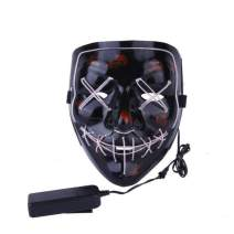 Halloween LED Glow Mask Purge Movie Costume Props Masquerades Cosplay Light Mask