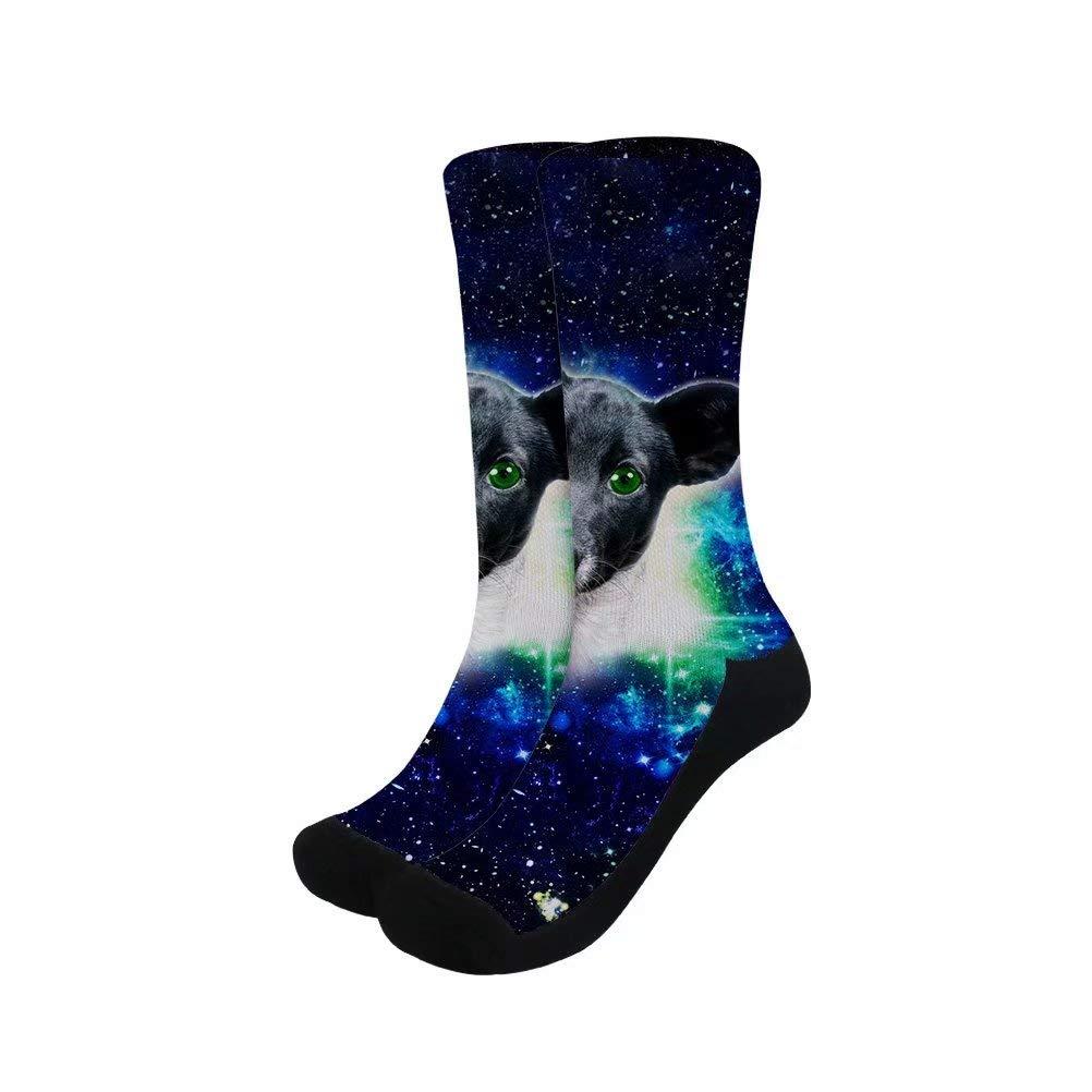Dellukee Compression Socks for Men Women Cute Cozy Dress Funny Novelty Sock