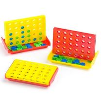 Baker Ross Mini 4-in-a-Row Games Value Pack— Novelty Toys for Kids, Perfect Party, Loot or Prize Bag Filler (Pack of 4)