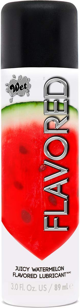 Wet Juicy Watermelon Flavored Lubricant - Water Based Edible Lubricant, 3.0 Ounce