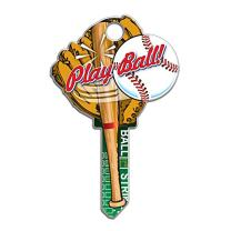 Lucky Line Key Shapes, Baseball, House Key Blank, SC1, 1 Key (B120S)