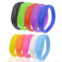 USB Flash Drive 32GB Bracelet Bulk Thumb Drives Pack of 10, Kepmen Silicon Memory Stick Wristband Zip Drive, Stylish Jump Drive Colorful Pendrive Festival Gift