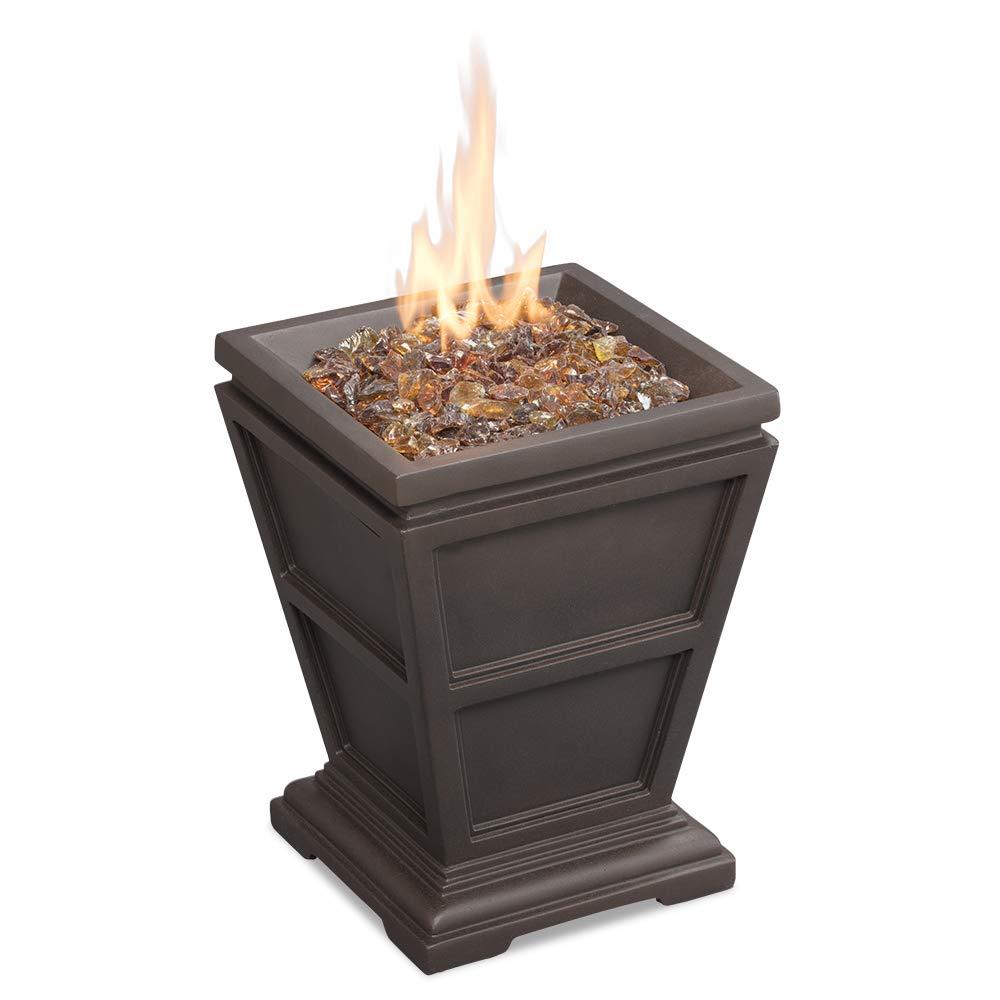 Endless Summer GLT1343B LP Gas Firepit, Brown Outdoor Fire Column
