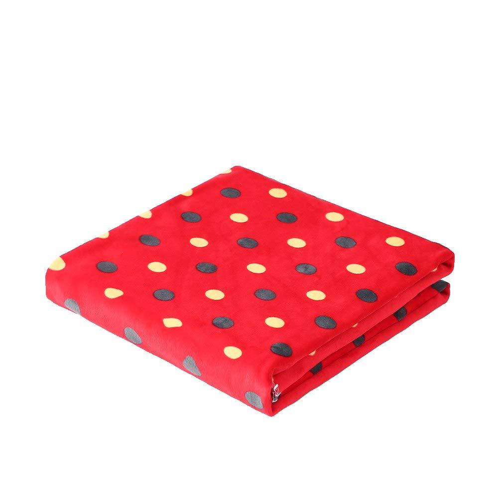 i-baby Soft Baby Blanket Large Toddler Blanket Cozy Infant Wrap Stroller Blanket Nursery Crib Blanket (Red)