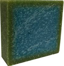 Cool Spring Scent Sea Salt Scrub Handmade Natural Soap Bar - Shampoo, Shaving, Bath, Hand Soap - All in One Soap 5 oz