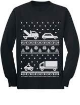 Xmas Children Clothing - Cars Ugly Christmas Sweater Long Sleeve Kids T-Shirt