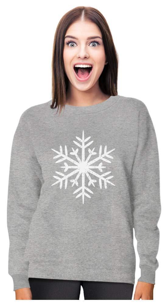 Big White Snowflakes Xmas Women Sweatshirt