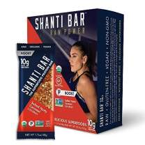 SHANTI BAR Vegan Sport Protein Bar   Plant Based, Paleo, Certified Organic, Gluten Free, Superfoods, Raw Snack   BOOST Salted Nutty Caramel Coconut, 12 Count, 1.07 oz Bars