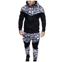 WOCACHI 2021 Mens Outfits Tracksuit 2PCS Set Patchwork Sweatshirt Jogger Sweatpants Winter T-Shirts Shorts Sports Suits