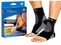 DR.ANISON Ankle Brace Sleeve Support Plantar Fasciitis Sock Compression Socks Premium Foot Sleeve for Men Women Foot Pain Relief Heel Pain Treatment with Arch Support Sock Soothers