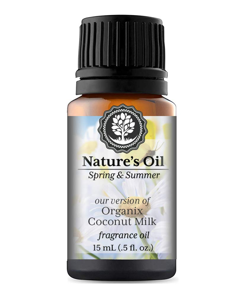 Organix Coconut Milk Fragrance Oil (15ml) For Diffusers, Soap Making, Candles, Lotion, Home Scents, Linen Spray, Bath Bombs, Slime