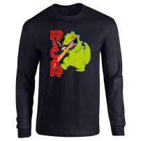 Pop Threads Cartoon Kaiju Funny Retro 90s Full Long Sleeve Tee T-Shirt