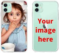 ranipobo Custom Phone Case for iPhone 11, Personalized Photo Phone Case, Soft Protective TPU Bumper, Customized Cover Add Image Painted Print Text Logo Picture