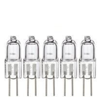 Simba Lighting Halogen G4 T3 10 Watt 120lm Bi-Pin Bulb 12 Volt A/C or D/C for Accent Lights, Under Cabinet Puck Light, Chandeliers, Track Lighting, 10W 12V 2 Pin JC Warm White 2700K Dimmable, 5-Pack