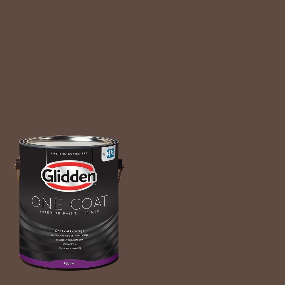 Glidden Interior Paint + Primer: Brown/Little Bear, One Coat, Eggshell, 1-Gallon