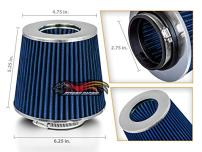 """BLUE 2.75"""" 70mm Inlet Cold Air Cone Replacement Quality Dry Air Filter"""