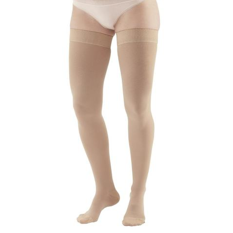 Ames Walker AW Style 205 Medical Support 20 30 CT Thigh Highs w/Band Beige XL