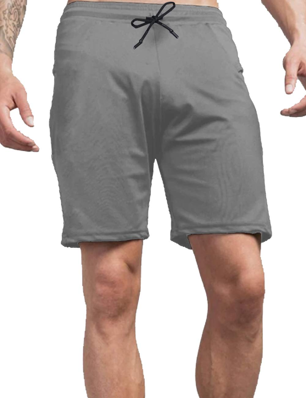 COOFANDY Men's Gym Workout Shorts Athletic Bodybuilding Short Pants Running Fitted Training Jogger with Zipper Pockets