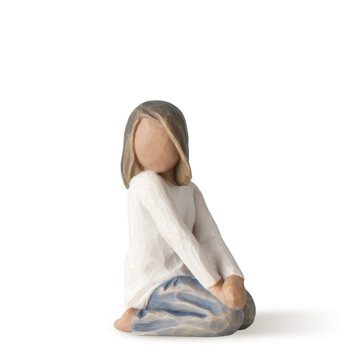 Willow Tree Joyful Child (Darker Skin Tone & Hair Color), Sculpted Hand-Painted Figure
