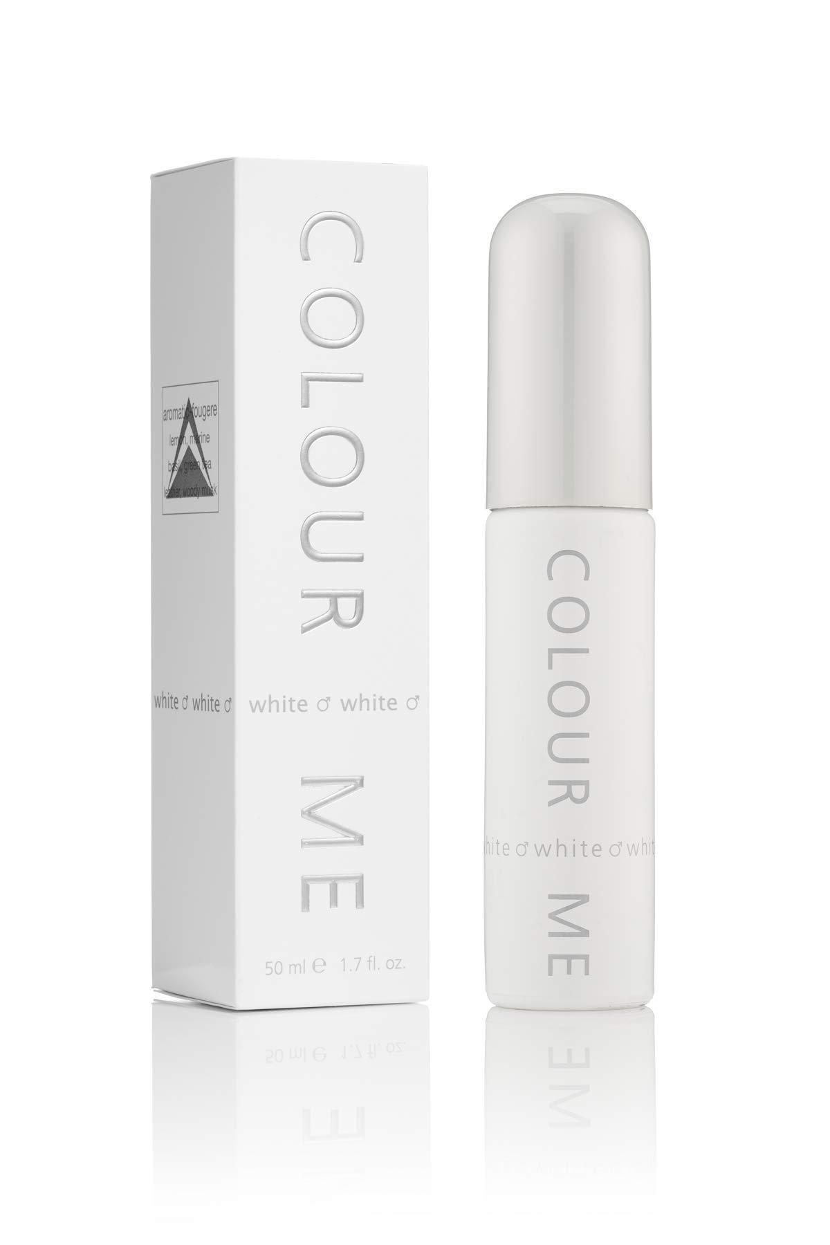 Colour Me | White | Eau de Toilette | Fragrance Spray for Men | Aromatic Fougere Scent | 1.7 oz