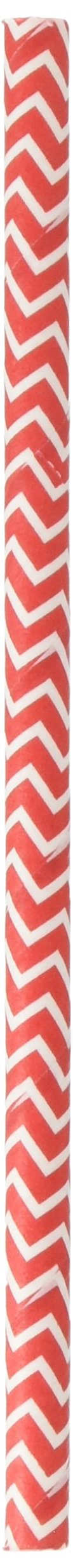 """Simply Baked Large Baking Cups, 5.5"""" long - Pack of 25, Scarlet Chevron"""