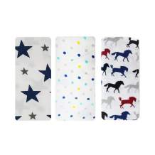 Rajlinen Muslin Swaddle Blankets - Soft Silky 100% Muslin Cotton Swaddle Blanket for Baby, Large 47 x 47 inches - Set of 3, Lego Horse