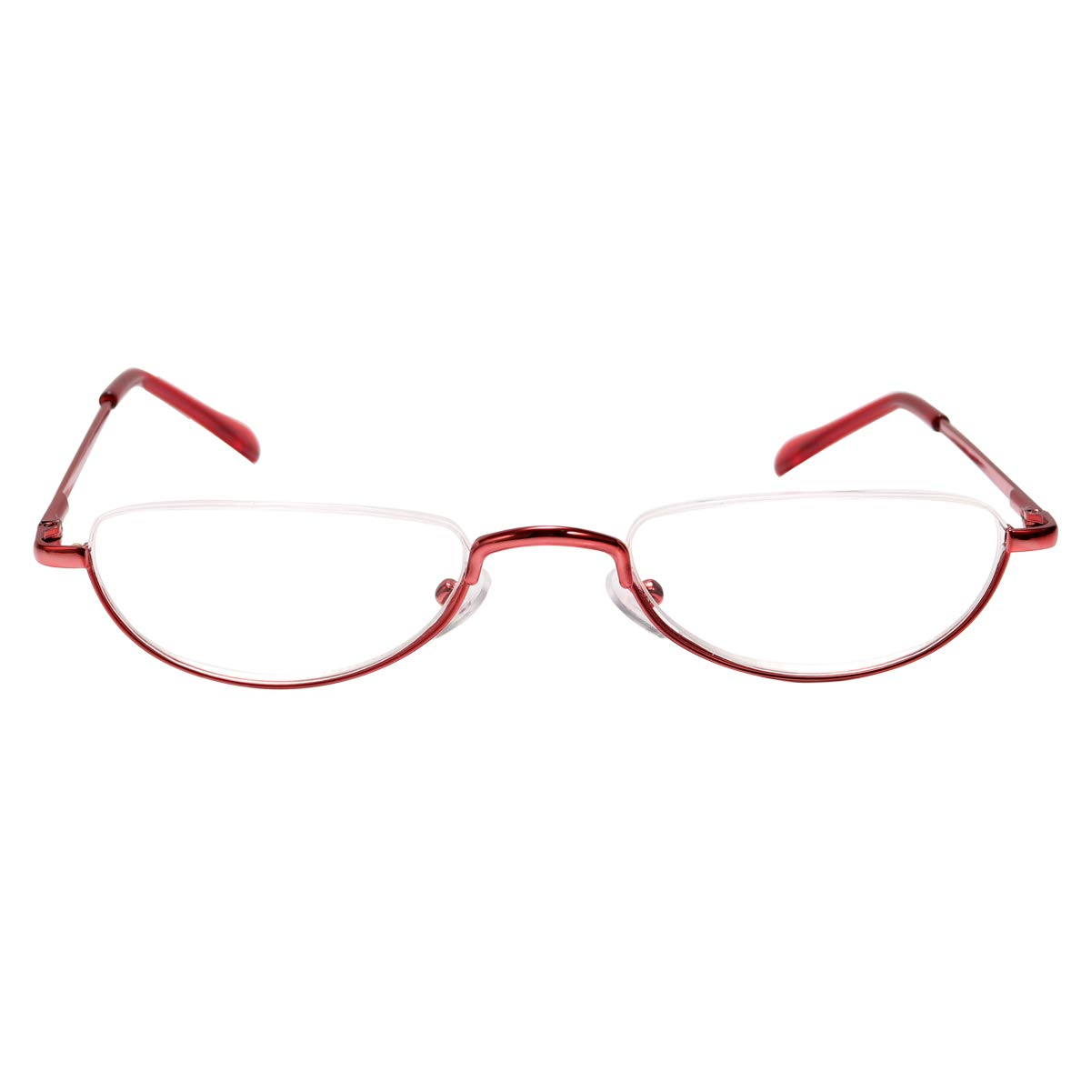Fuaisi Vintage Alloy Half Moon Classic Reading Glasses Men And Women Half Frame Slim Glasses