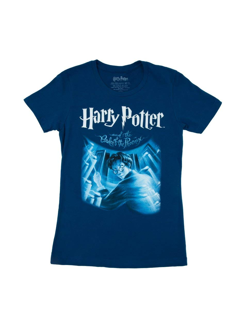 Out of Print Women's Harry Potter Series Book-Themed Crew Neck Tee T-Shirt