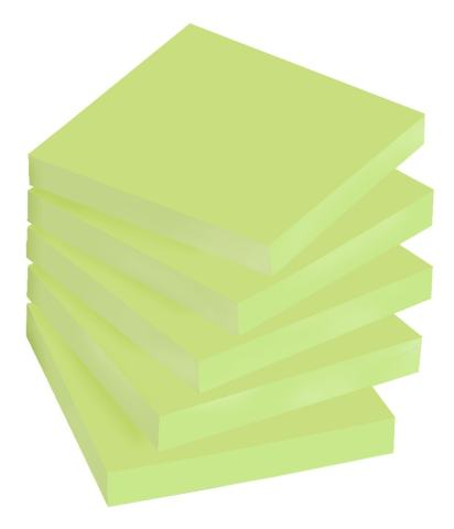 Post-it Super Sticky Notes, 2x Sticking Power, 3 x 3-Inches, Limeade, 5-Pads/Pack (654-5SSLE)