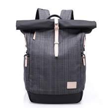 Canvas Backpack BusinessLaptop Backpack With USB Charging Port,School College Bookbag Waterproof Casual Travel Bag