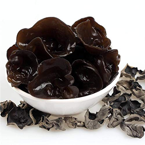 Dried Woodear Mushrooms, 1.1 Pound / 500 Grams Black Fungus, Dry Agaric from Yunnan China, Chinese Unique Gourmet, 10 Times Volume Yield After Soaking, for Vegan